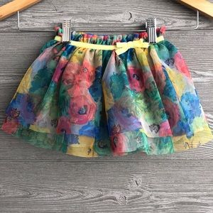 Floral tulle skirt size 12 months